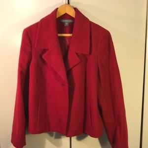 Josephine Chaus Red wool Jacket Sz 14